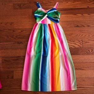 ALLY B. Girl's Rainbow Maxi Dress Size 8